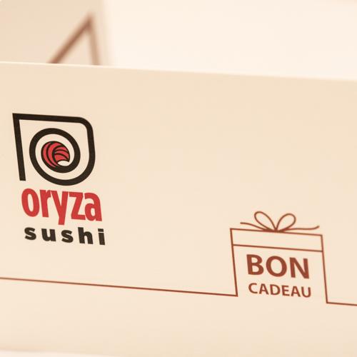 oryza sushi bon cadeau