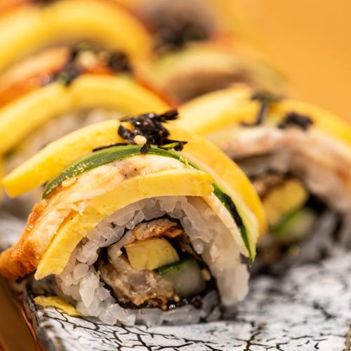 oryza sushi uramaki deluxe anguille omelette concombre