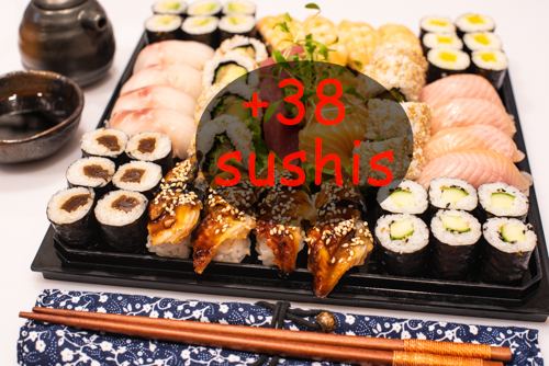 oryza sushi plateau 94 pièces