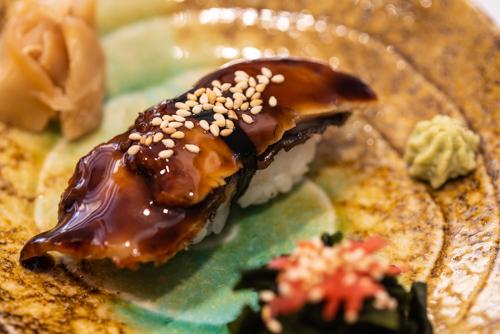 """oryza sushi Nigiri Anguille d'eau douce """"Unagi"""""""
