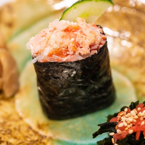 oryza sushi gunkan maki crabe