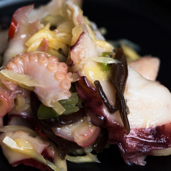 Oryza Salade poulpes et légumes au gingembre